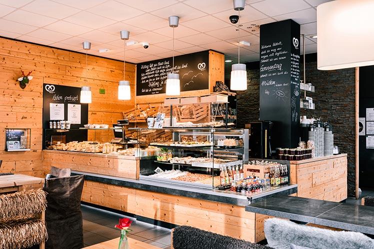 Grau Backspezialitäten Bäckerei Konditorei Küche